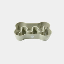 Load image into Gallery viewer, Inooko Taupe Bone Slow Feeder Dog Bowl