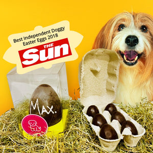100% Carob Dog Easter Egg