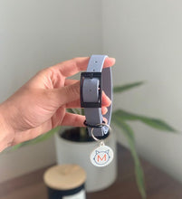 Load image into Gallery viewer, Moki and Blu Handmade BioThane Grey  Dog Collar