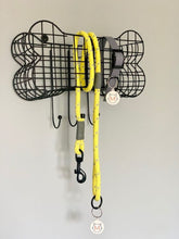 Load image into Gallery viewer, Moki and Blu Handmade Yellow and Grey Hi-Vis Dog Rope Lead