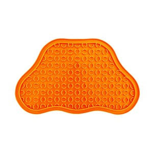 Orange Paw Pad Lick Mat