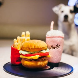 P.L.A.Y. American Burger Dog Toy