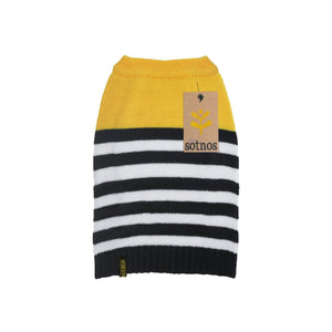 Sotnos Yellow Sunshine Stripe Dog Jumper