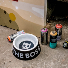 Load image into Gallery viewer, Zee Dog Black 'I'm The Boss' Dog Bowl
