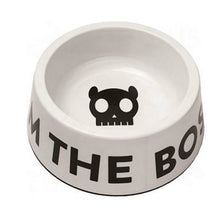 Load image into Gallery viewer, Zee Dog White 'I'm The Boss' Dog Bowl