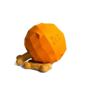 Zee Dog Orange Super Fruitz Dog Treat Toy