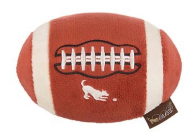 P.L.A.Y. Back To School Fido's Football Plush Dog Toy