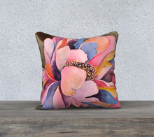 "Load image into Gallery viewer, Colorful Peony Pillow 18"" x 18"""