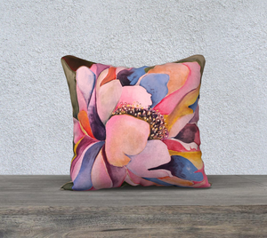 "Colorful Peony Pillow 18"" x 18"""