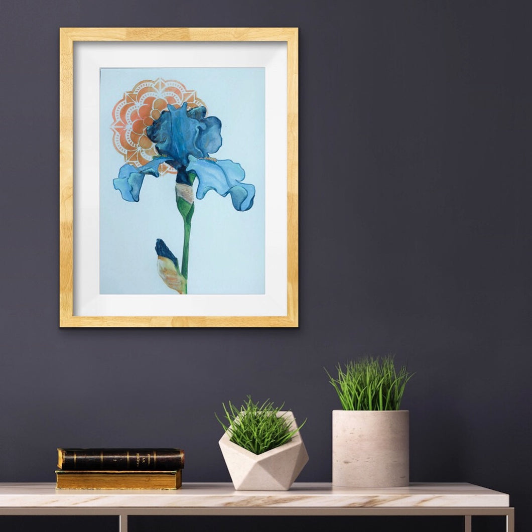 Art Nouveau Iris Print by Artist RH Zondag.  Add beauty to your home with this affordable print.  Ships unframed.