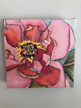 "Load image into Gallery viewer, Peony 8 x 8 "" Limited Edition Canvas Print"