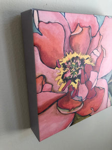 "Peony 8 x 8 "" Limited Edition Canvas Print"