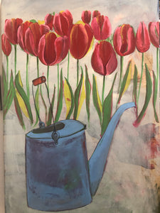 The Old Watering Can - Original Painting