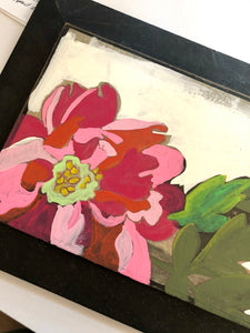 Paeonia, An Origianl Peony Painting 11 inches by 19 inches on Panel by Artist RH Zondag