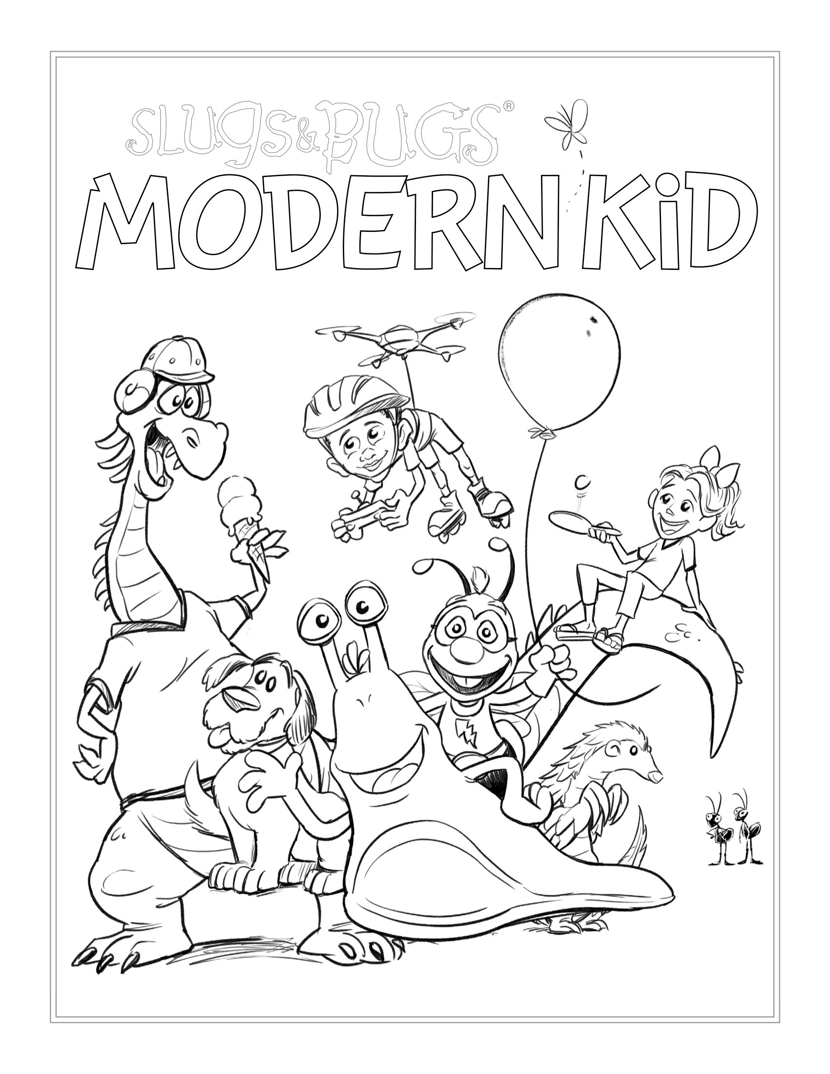 Coloring Sheet from Modern Kid