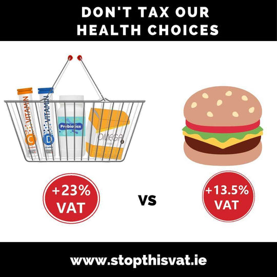 Irish Government Proposed VAT increase on Supplements and Vitamins