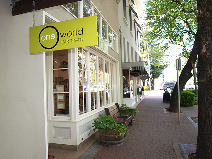 One World Fair Trade store front in Healdsburg, CA