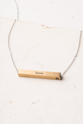 Faith Gold Bar Necklace