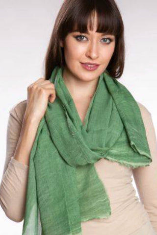 Ajala Cotton Scarf - Green