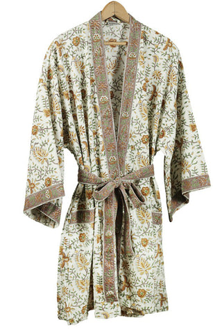 Hand Block Printed Bathrobe