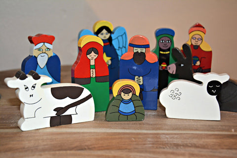 Children's Wood Nativity Set