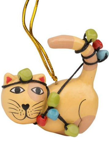 Christmas Lights Kitty Ornament
