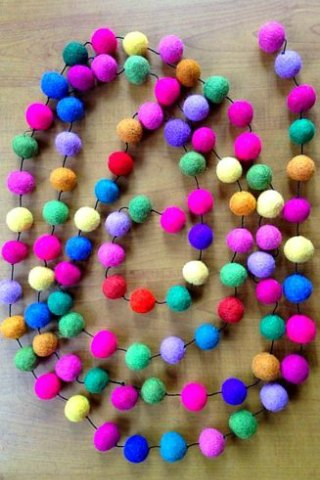 Colorful Felt Ball Garland