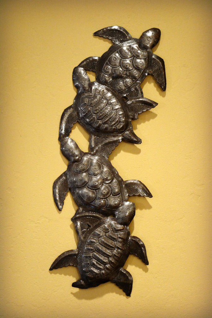 Sea Turtles Steel Wall Hanging