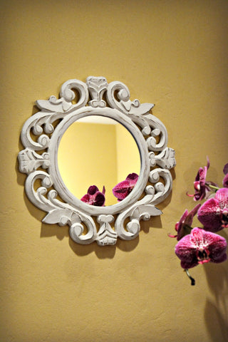 Indonesian Wood Mirror