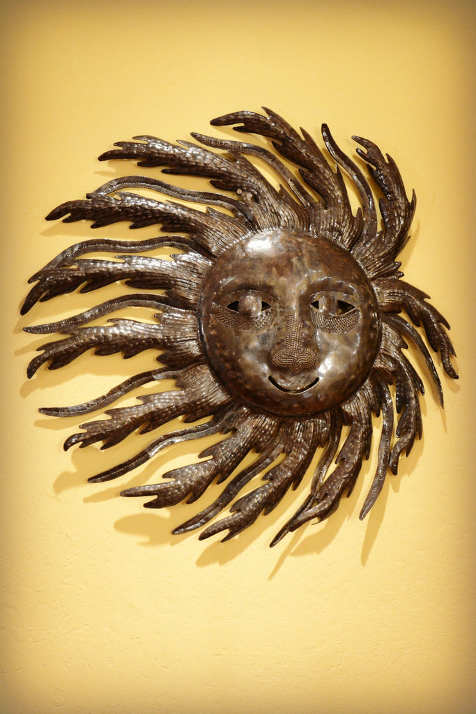 Recycled Steel Sun Sculpture