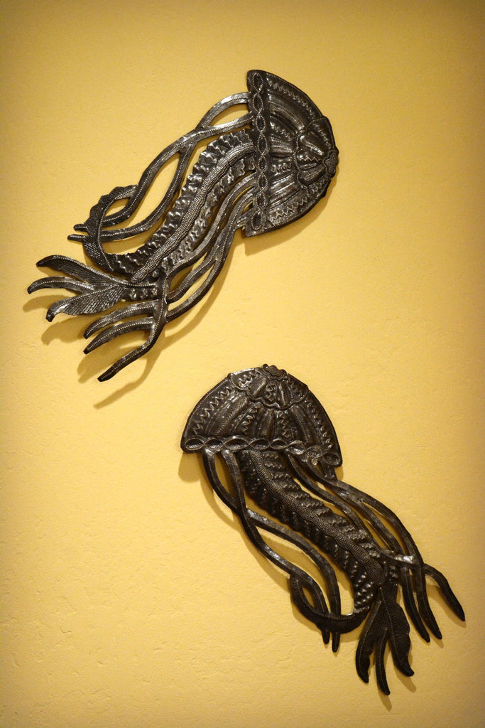 Haitian Metal Jellyfish Sculpture