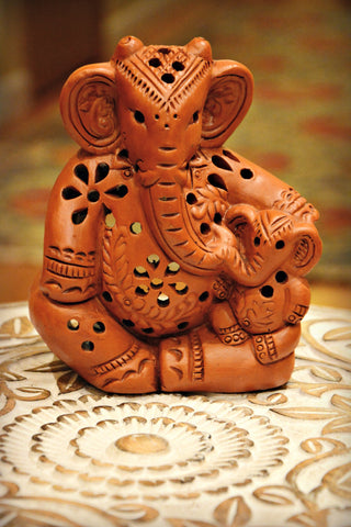 Mother Elephant Candle Holder