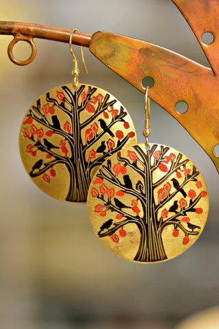 Tree of Life Medallion Earrings