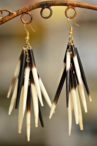 African Porcupine Quill Earrings