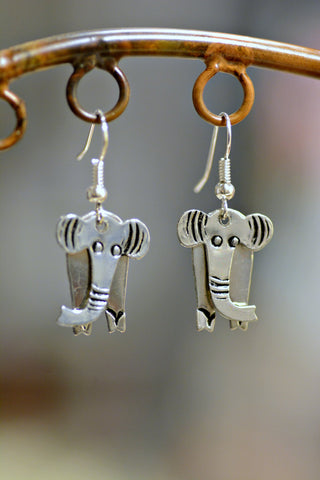 Swaying Elephant Earrings