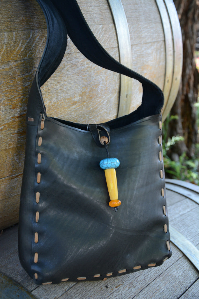 Recycled Tire and Bead Purse