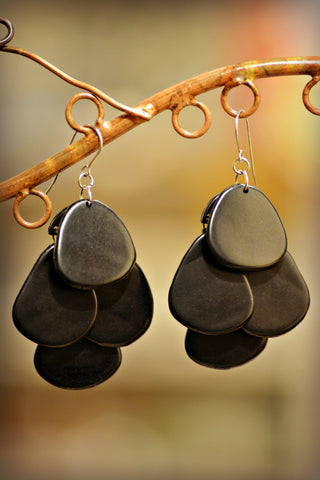 Tagua Cascade Earrings