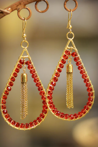 Bohemian Teardrop Earrings
