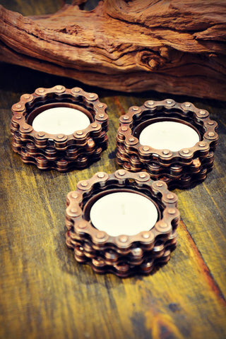 Bicycle Chain Tea Light Holder