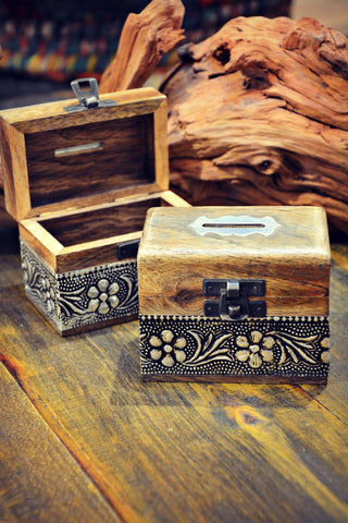 Rosewood Coin Box