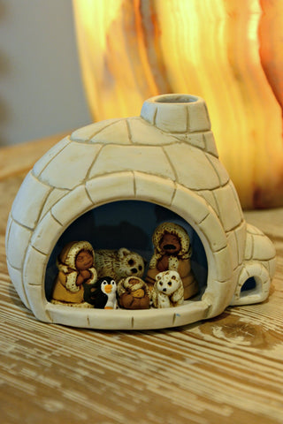 Ceramic Igloo Nativity