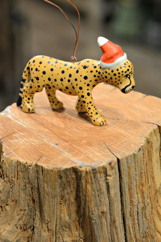 Festive Cheetah Ornament