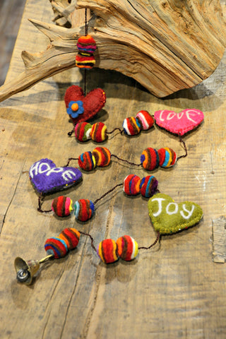 LOVE HOPE JOY Felt Garland
