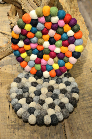 Felted Ball Trivet