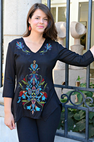 Color Splash Embroidered Tunic