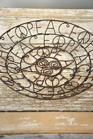 Peace Wire Bowl