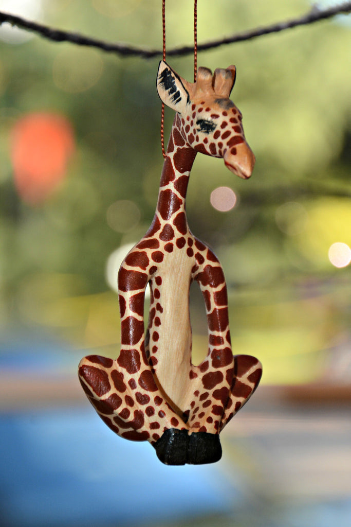 Yoga Giraffe Ornament