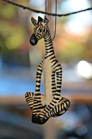 Yoga Zebra Ornament