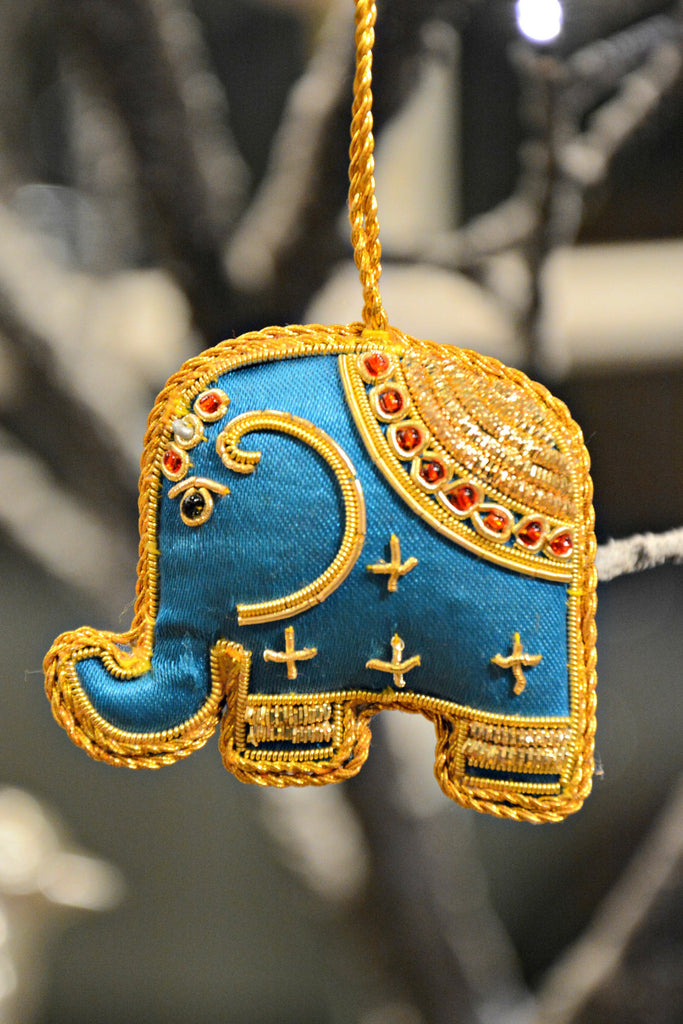 Zari Brocade Elephant Ornament