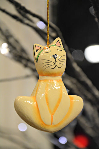 Yoga Cat Ornament
